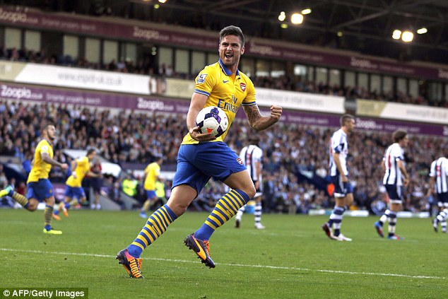 In form: Arsene Wenger has masterminded Arsenal's revival this year, spearheaded by Olivier Giroud (below)
