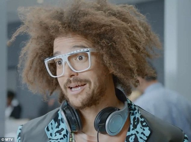 Wacky: The promo sees Redfoo having his bags searched and the airport worker finds all kinds of bizarre items, but none more strange than a near-naked Miley in a suitcase