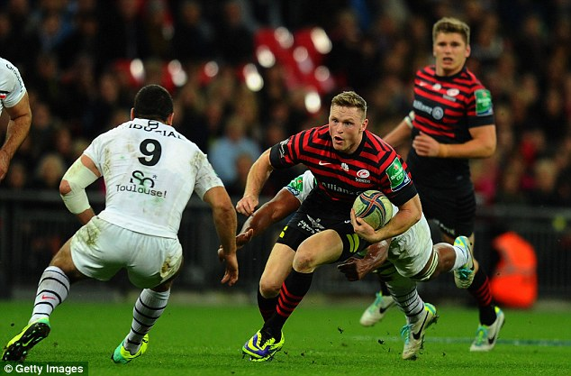 Back on song: Saracens' Chris Ashton had a fine game against Toulouse