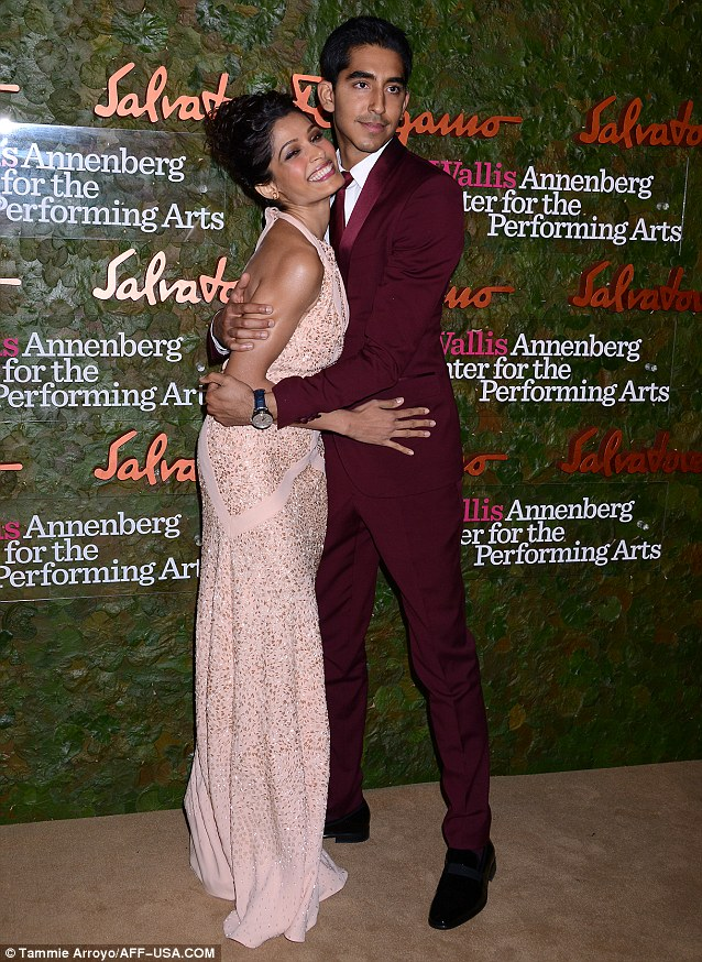 Loved up! The night before, Dev and Frieda attended the Wallis Annenberg Center for the Performing Arts Gala sponsored by Salvatore Ferragamo