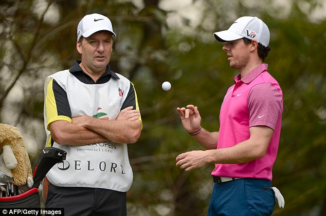 At a loss: McIlroy hit a four-over third-round 75 at the Korea Open
