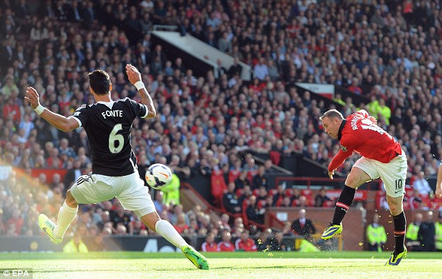 Firing a blank: Rooney could not get on the scoresheet to pull United clear at Old Trafford