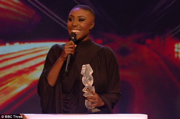 Big winner: Laura Mvula took home two prizes at the MOBO Awards in Glasgow, Scotland, on Saturday night
