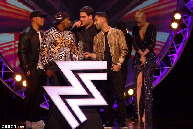 Success story: Rudimental collected their prize for Best Album from Iggy Azalea ad Tinie Tempah