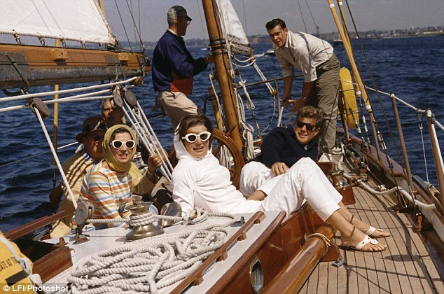 Rare time off together: JFK and Jackie sailing off Rhode Island in 1962