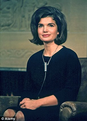 Jackie, wife of US President Kennedy prepares for an interview