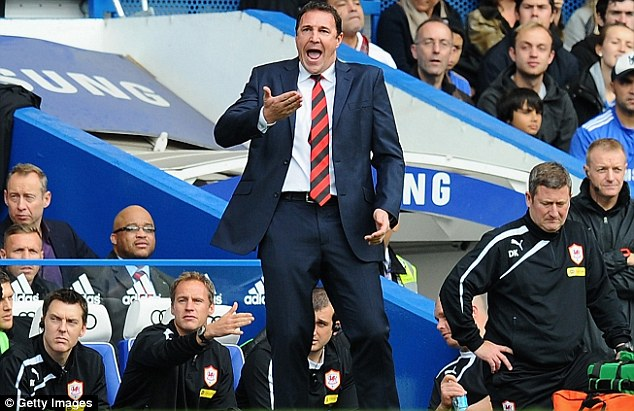 Keep calm: Cardiff manager Malky Mackay managed to keep his cool after the game