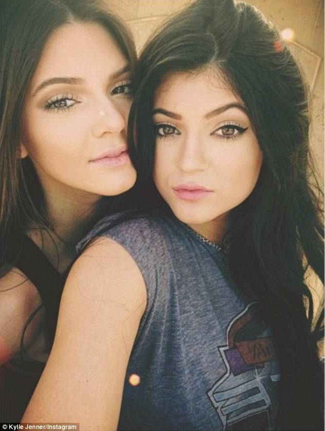 Not-so-typical teens: Both Jenner sisters grew up fast under the watchful gaze of E! camera crews, and they now have 11 million Twitter followers as well as a 'Back-To-School' PacSun clothing line