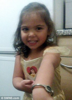 Na'llah Khan, 2, was also taken from her mother