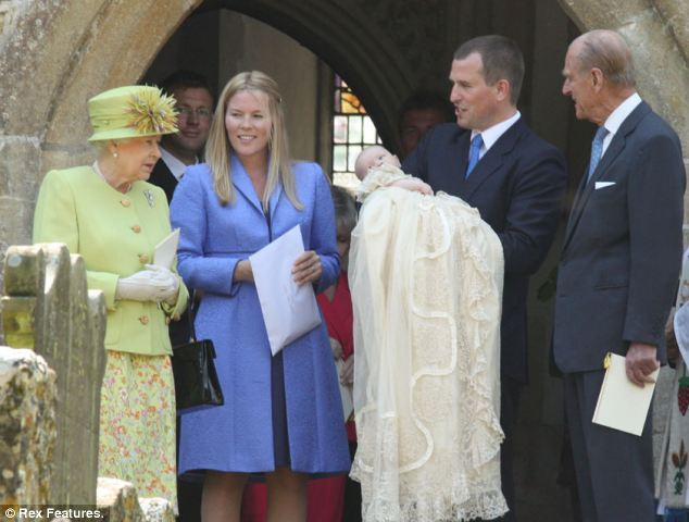 Legacy: Savannah Phillips, daughter of Peter and Autumn Phillips, pictured at her christening in 2011, and her younger sister Isla were the last two children to wear the new gown