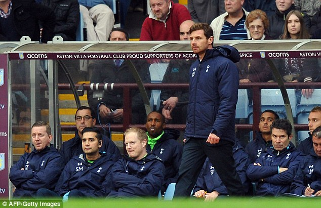 On the up: Andre Villas-Boas' team moved up to fifth place with the win
