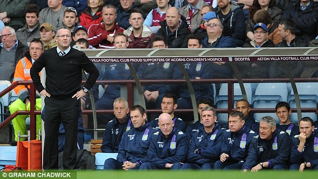 Streak over: Aston Villa's three match unbeaten run came to an end with the defeat
