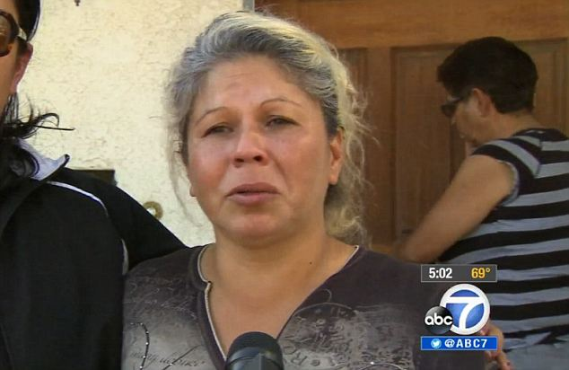 'He's in a good place with God right now,' the husband and father of two's sobbing sister Ana Guerrero told reporters what a good person her brother was