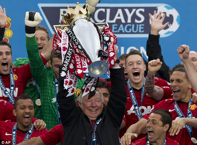 Big aim: Sir Alex Ferguson says he was desperate to win the title back from Manchester City