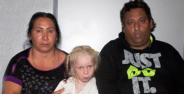 Charged: Hristos Salis (right) told the court he did not want Maria (centre)