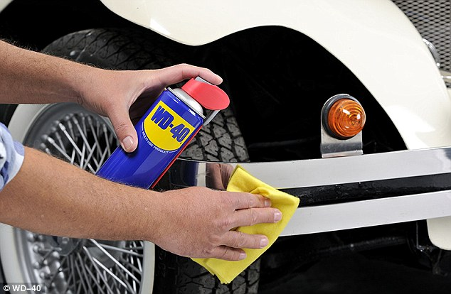 Real use: The makers of WD-40 say the lubricant works better on bumpers than it does on human joints