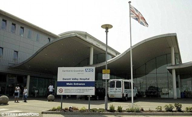 Operation: Holder went under the knife at Darent Valley Hospital in Dartford, Kent