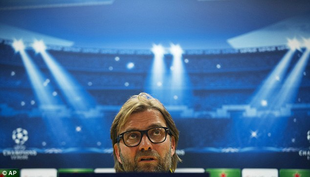 Standing in the way: But Dortmund boss Jurgen Klopp is banned from the touchline