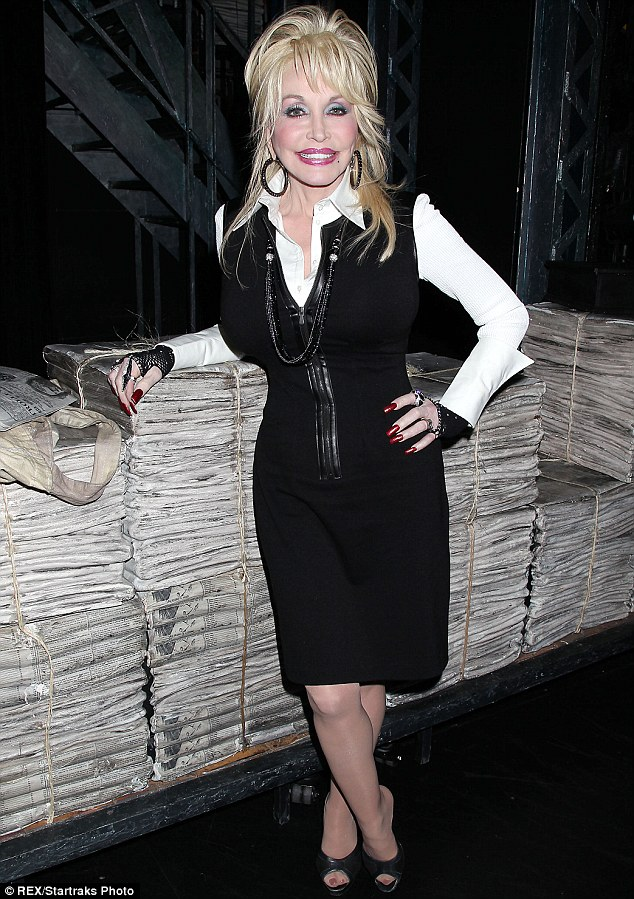 Recovering: Dolly Parton was hospitalised in Nashville, Tennessee, following a car accident on Monday, pictured in New York in November last year
