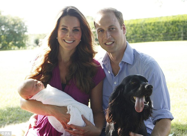 The Archbishop said he would baptise Prince George by splashing his head three times with water rather than by dipping his head into the font