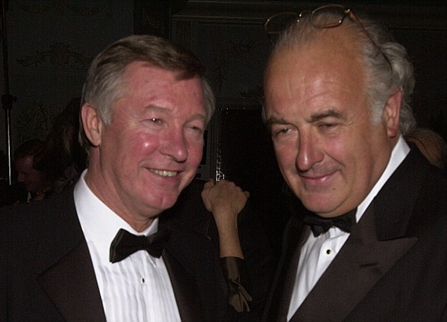 Good terms: Sir Alex Ferguson had fallen out with John Maginer (right) over the breeding rights of his horse
