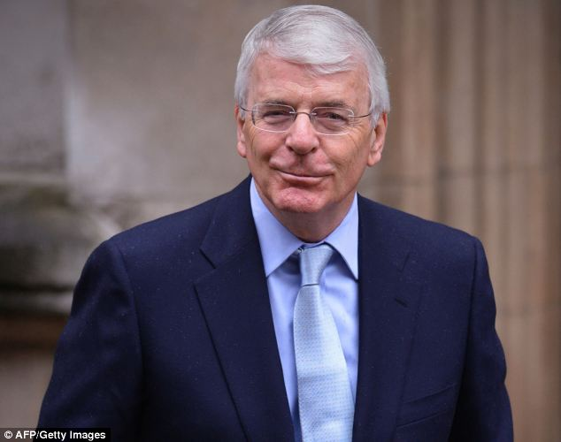 Warning: Sir John Major warned that too many people will have to choose between heating and eating this winter, and the government must intervene