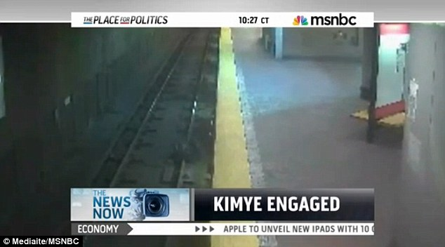 Kimye Engaged! Social media users are questioning whether MSNBC deliberately overlaid the playful caption about the celebrity engagement on footage of a dangerous fall