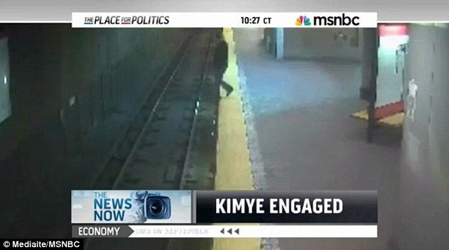 Ouch! The footage showed the woman teetering on the edge of the platform before face planting onto the tracks