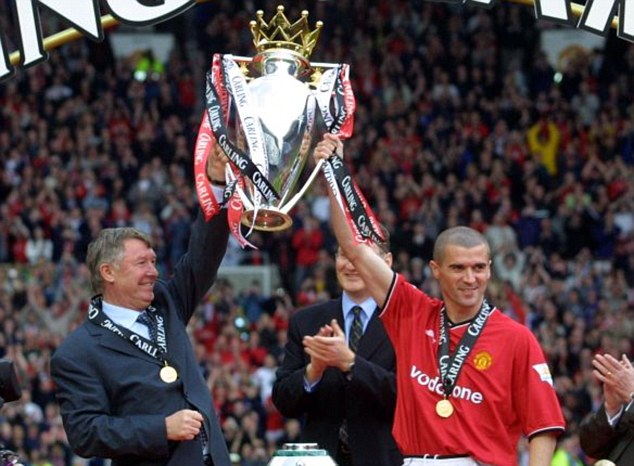 Happier days: Ferguson's relationship with Roy Keane deteriorated before the midfielder left the club in 2005