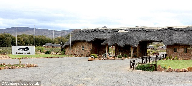 Rustic charm: The reserve is located around two hours outside the South African city of Cape Town