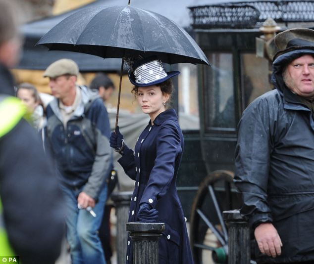 Hours before the attack the film's star Carey Mulligan had been pictured in character on set