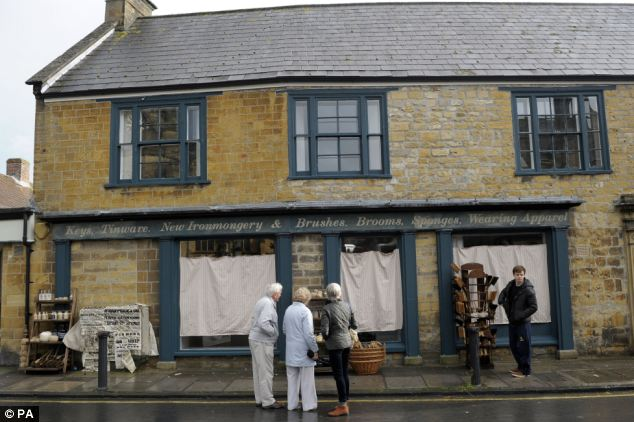 Some nearby streets have been cordoned off during filming and others have been given a period makeover