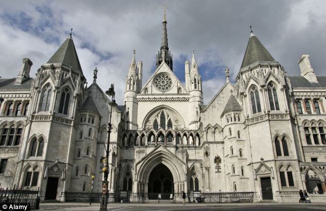Hearing: At the High Court, at the Royal Courts of Justice pictured, Giwa's lawyer said his detention was no longer reasonable, but the Home Office insisted there was a 'realistic prospect of removal'