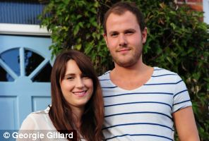 Lauren and Ivan Pinney who are struggling to get on to the property ladder in Brighton