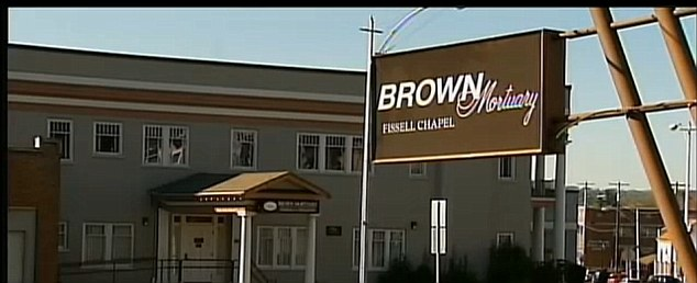 Oops: It's believed the Brown Mortuary mistakenly put the body of a 97-year-old man in Moon's coffin