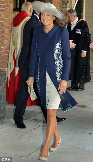 Carole Middleton leaves the Chapel Royal in St James's Palace