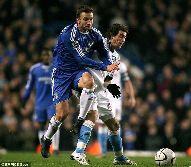 Mixing it with the big boys: Torres and Wycombe came up against Andriy Shevchenko and Chelsea - and lost