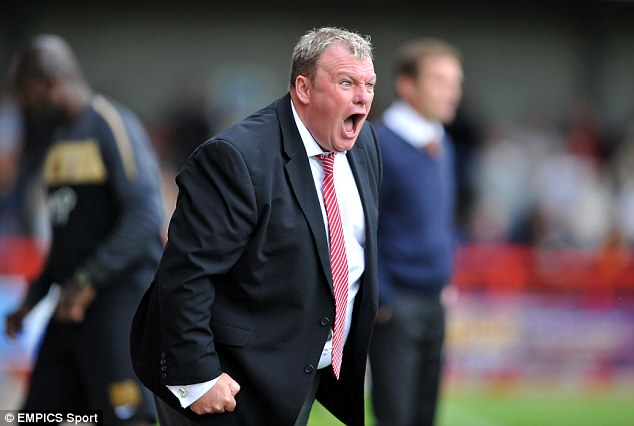 Hate to lose: Torres used to call former Crawley boss Steve Evans The Grump - but in an affectionate way