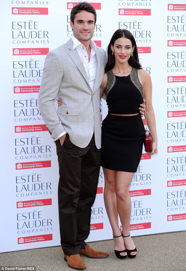 Calling time: Thom Evans has split from his girlfriend of seven months Jessica Lowndes