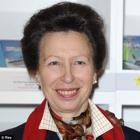 Not invited: Anne, Princess Royal, will not be at the christening, although her daughter, Zara, will be the baby's godmother