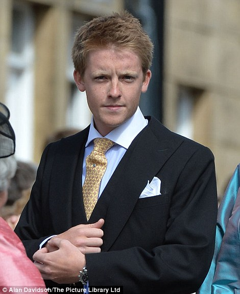 Hugh Grosvenor, seen here with his mother the Duchess of Westminster, has been asked to be godfather