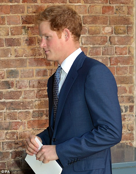 Prince Harry leaves the Chapel