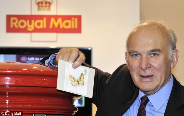 Grilling: Business Secretary Vince Cable is to face questions from MPs next month on whether Royal Mail was sold off on the cheap