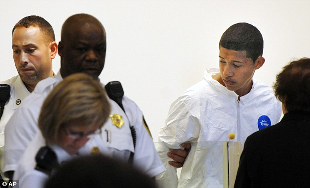 Charged: Philip Chism, 14, (right) will be charged as an adult in the murder of his teacher. His classmates and family described his as 'nice' and 'quiet' and were shocked by the charges