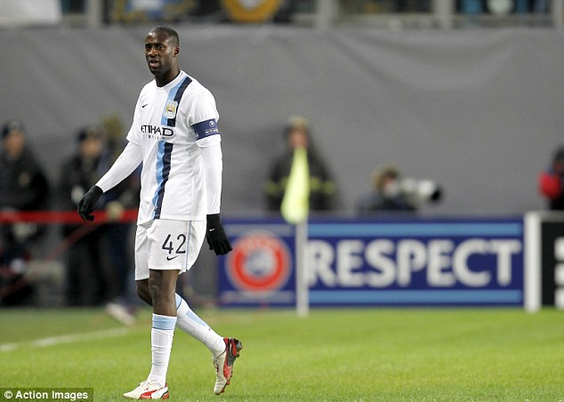 Target: Toure was the victim of monkey chants from sections of the Moscow crowd during the game