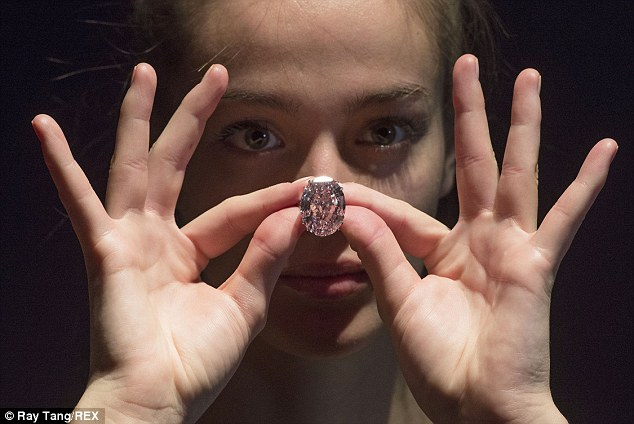 Pricey: The 59.60-carat stone is expected to sell for more than £40million