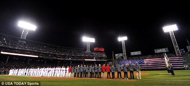 A moment's silence was held for Miss Ritzer on Wednesday night before the start of the MLB baseball World Series at Fenway Park in Boston