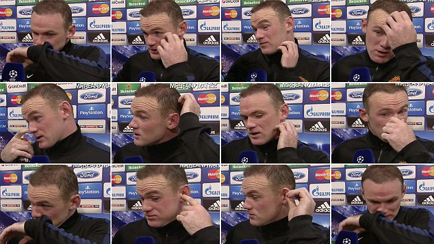 Montage: Rooney scratched himself 12 times during the questioning from Sky Sports