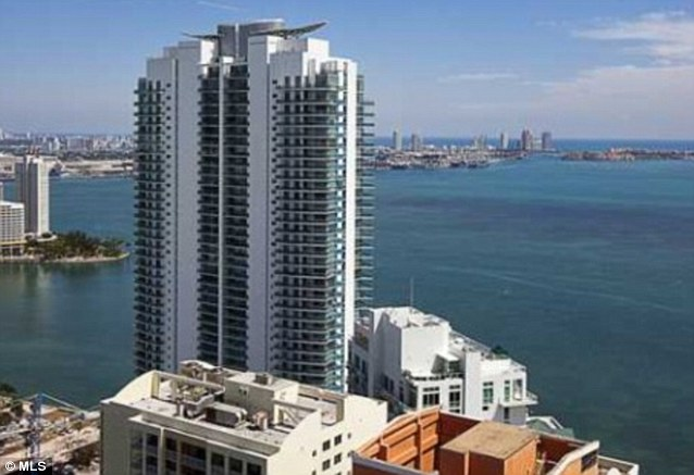 Sky high: Joanna paid $1.4million for the condo at the Four Seasons Residences in Miami