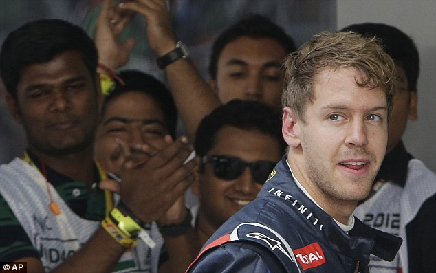 Winner: Vettel won last year's F1 Grand Prix at the Buddh International Circuit, India